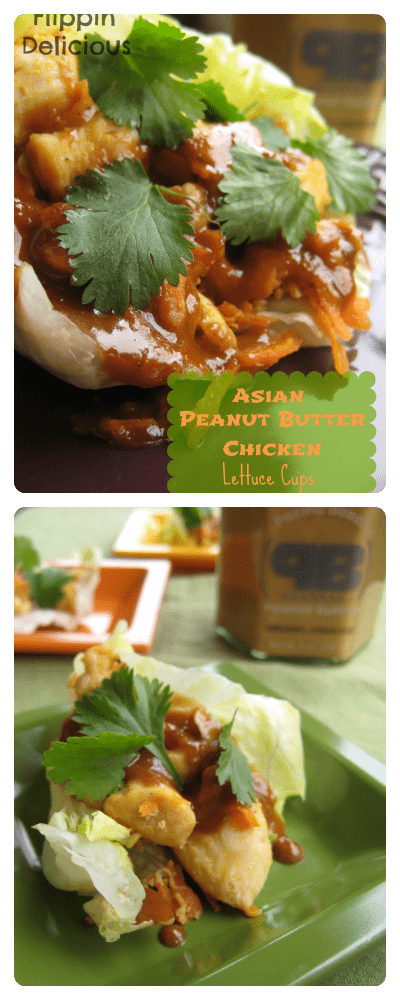 Quick and tasty dinner idea: gluten-free asian peanut butter chicken lettuce cups. Fresh and flavorful entree for spring.