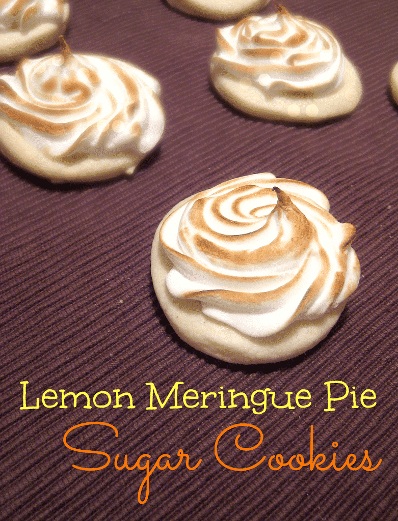 Try these Gluten Free Lemon Meringue Pie Sugar Cookies for Thanksgiving. Or for really any occasion. Soft sugar cookies, filled with tart lemon curd and topped with a bruleed swirl of 7-minute frosting. I'm in cookie-pie heaven! Can be dairy-free too.
