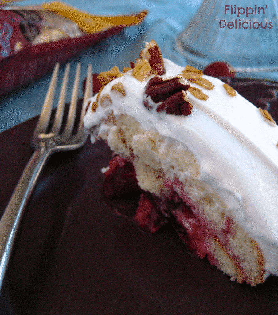 This Gluten-Free Cranberry Pudding Cake is tart and sweet. The cranberry filling is soaked up by sliced Udi's gluten-free muffins and sets into this beautiful cake. Top it with whipped cream, pecans, and Udi's Cranberry Granola for a little crunch. http://www.flippindelicious.com/2013/12/cranberry-pudding-cake.html