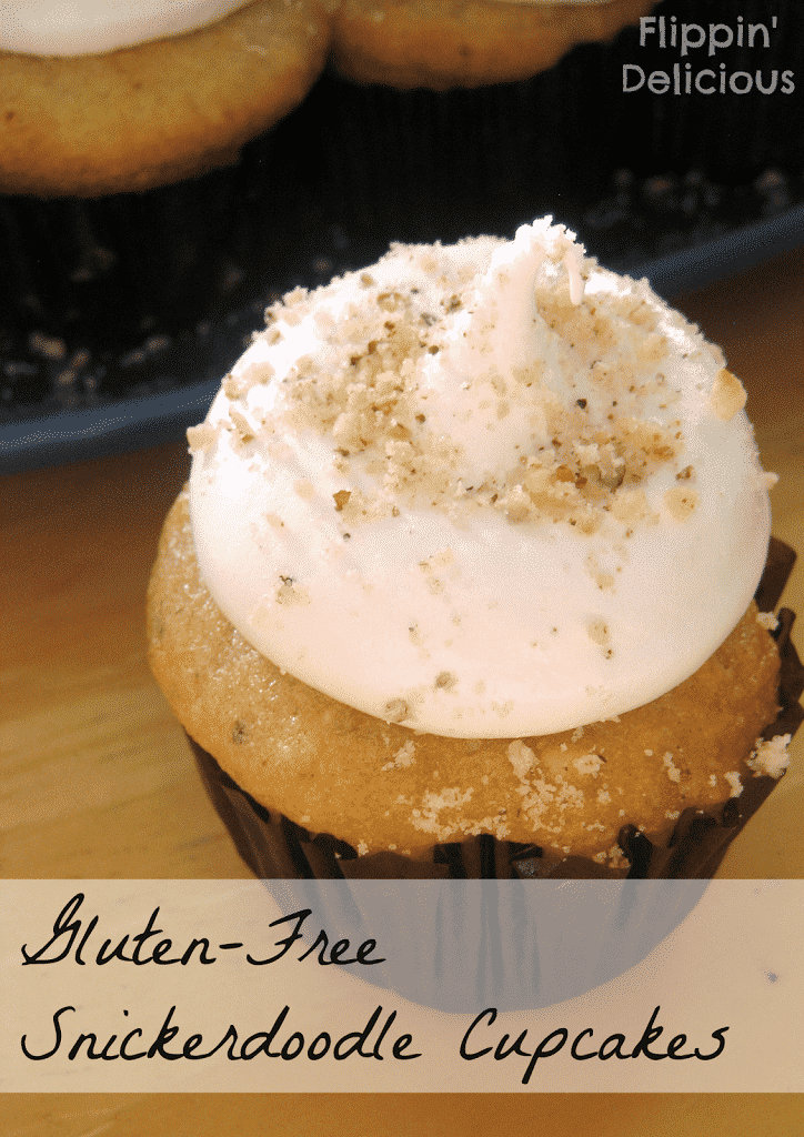 These Gluten-Free Snickerdoodle Cupcakes are reminiscent of the traditional cookie, but with a hint of nutmeg and the nuttiness and crunch of ground hazelnuts.