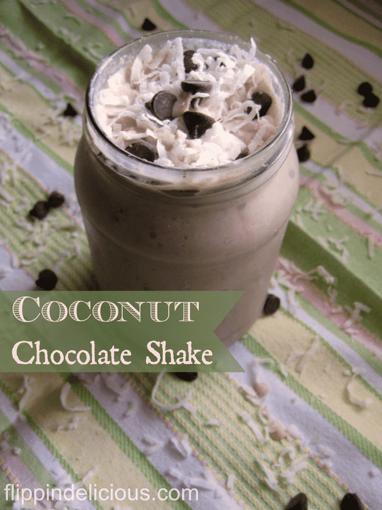Gluten-Free Dairy-Free Coconut Chocolate Shake from Flippin' Delicious
