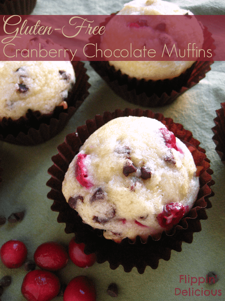 Gluten-Free Cranberry Chocolate Muffins from Flippin' Delicious